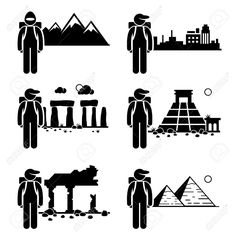 Explorer Adventure At Snow Mountain City Ancient Ruins Stone.. Royalty Free Cliparts, Vectors, And Stock Illustration. Pic 26999407.