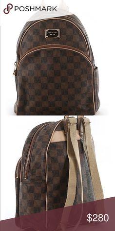 b40deb02e5b2 MICHAEL Michael Kors Backpack Like New Brown Checkered MICHAEL Michael Kors  Bags Backpacks