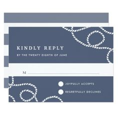 Seaworthy RSVP Card | Slate - wedding invitations cards custom invitation card design marriage party