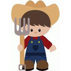 Silhouette Design Store: farmer boy