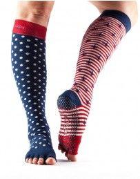 Half Toe Scrunch Knee High Grip Socks