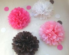IT'S A GIRL Baby Shower Decorations ...20 Medium Tissue Paper Flowers. $24.00, via Etsy.