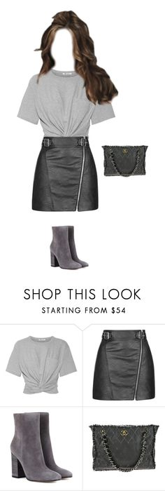 """""""Bervely Hills"""" by cmmpany ❤ liked on Polyvore featuring T By Alexander Wang, Topshop, Gianvito Rossi and Chanel"""