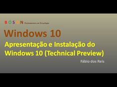 Windows 10 Technical Preview - Apresentação e Instalação - YouTube #windows10