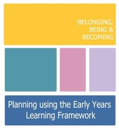 Downloadable planning documents using the Early Years Learning Framework (EYLF) from Lessons From a Teacher.
