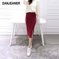 8a188addc5 2018 Summer skirts Sexy Chic Pencil Skirts Women Skirt Wool Rib Knit L -  CHICO AND