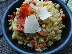 risotto de coquillettes au chorizo § parmesan