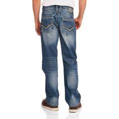 Faded Glory Men's Embellished Denim Jeans, Size: 30 x 30, Multicolor