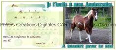 carte invitation anniversaire enfants a imprimer photo cheval dclicsdisa