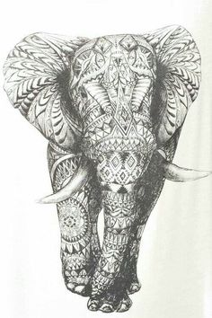art girl Black and White fashion white hippie hipster design boho indie dream peace pattern girly mandala elephany bbblondieee Backgrounds Elefante Tribal, Elefante Tattoo, Hipster Design, Hipster Ideas, Elefant Wallpaper, I Tattoo, Cool Tattoos, Sketch Tattoo, Mandala Tattoo