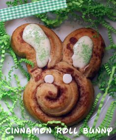 How to Make a Cinnamon Roll Bunny! #easter #bunnies #recipes