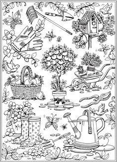 Dover Publications Creative Haven Spring Scenes Coloring Book