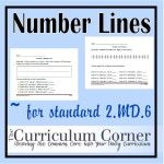 Common Core Math Standard 2.MD.6 - students practice making their own number line with even spacing.  Students also practice counting up and down on a number line.  Multiple pages and a lesson plan plus they're all free!