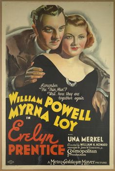 """Movie poster, """"Evelyn Prentice"""" starring William Powell and Myrna Loy"""