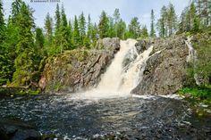Hepoköngäs - Hepoköngäs Puolanka Kainuu putous vesiputous vesi pudotus joki kesä kallio metsä kuusi koivu