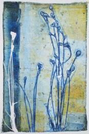 original pinner says - I finally followed her instructions and made some gelatin prints - loved it!
