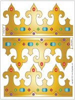 King and Queen's Crown | Printable Templates & Coloring Pages | FirstPalette.com