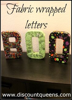 BOO Block Letters | Discount Queens