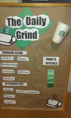 Our daily schedule! Starbucks style!