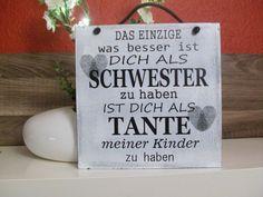 Shabby Schild - SCHWESTER UND TANTE | Möbel & Wohnen, Dekoration, Schilder & Tafeln | eBay!