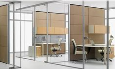 Glass Wall Systems New York, Glass Walls NY- Broadway Office Furniture Glass Wall Systems, Cubicle Walls, Glass Office, Modern Office Design, Glass Partition, Office Walls, Office Doors, Restaurant, Cheap Furniture