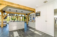 5 bedroom detached house for sale in Row Lane, Albury, Guildford, Surrey - Rightmove. House Extensions, Detached House, Property For Sale, Garage, Kitchen Cabinets, Loft, Bedroom, Furniture, Home Decor