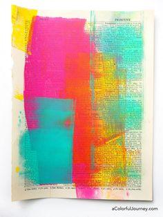 New art sketchbook inspiration mixed media colour Ideas Art Journal Pages, Art Journal Challenge, Art Journal Backgrounds, Art Journal Prompts, Art Journal Techniques, Journal Ideas, Art Journals, Visual Journals, Art Pages