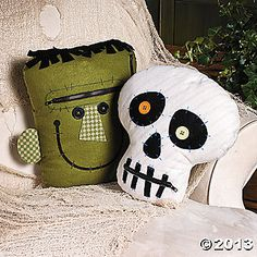 Felt pillows; we could make out of fleece remnants Zipper Mouth Characters