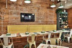 Restaurant so Luxuriantly Adorned with Graffiti flagship restaurant obed bufet 3 Design Studio, Cafe Design, Food Design, Store Design, Interior Design, Fast Food Restaurant, Restaurant Chairs, Restaurant Bar, Restaurant Furniture