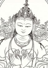 outlines of tibetan thangka drawings - Google Search