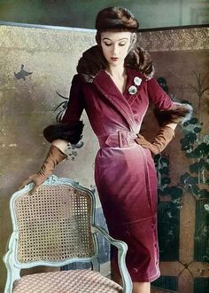 LOVE this Jacques Fath dress 1950's! Women's vintage fashion history photography image photograph