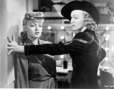 "Eve Arden with Lana Turner in ""Ziegfeld Girl"" (1941)."