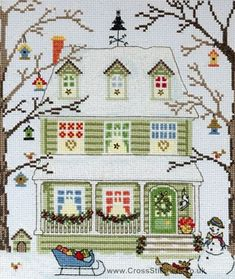 1000 images about christmas cross stitch on pinterest for New england kit homes