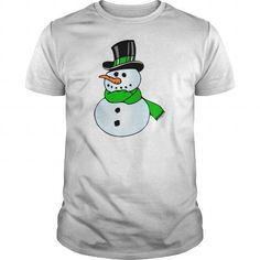 Cool and Awesome  Snowman With Top hat scarf Shirt Hoodie