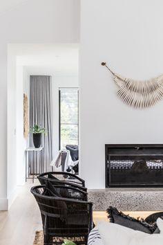 Zoco x Catalina Burradoo - COTTONWOOD & CO Hammock, Architecture Design, House Design, Living Room, House Styles, Fireplaces, Design Ideas, Interiors, Live