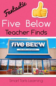SmartTartsLearning: High 5 For These Five Below Teacher Finds