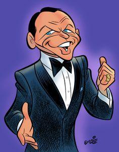 Frank Sinatra by Emslie via http://cartooncave.blogspot.com