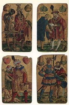 """""""Quadrivium"""" es un grupo musical especializado en música medieval tardía, concretamente en el repertorio franco-flamenco de los siglos XIV-XV.  Uno de los programas de este grupo se llama """"Der Teufel hat das Spiel erdacht"""" (The devil created the game / El Diablo creó el juego) y se inspiró en tres conjuntos de naipes musicales."""