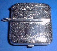 Silver Vesta & Double Sovereign Case - Daniel Bexfield Antiques.