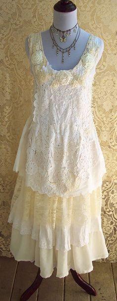 Flapper Wedding Dress  Vintage Inspired 1920's by roselanijasmin, $420.00