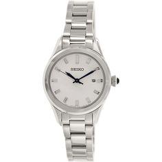 Seiko Women's SXDF67 Silver Stainless-Steel Quartz Watch