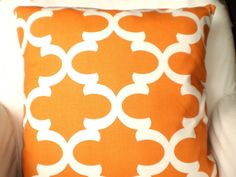 Orange Pillows Decorative Throw Pillows by PillowCushionCovers