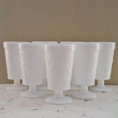 Vintage Glasses Vases Milk Glass by OakHillsRoadVintage on Etsy, $22.00