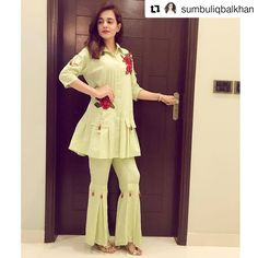 Image may contain: 1 person Kurti Neck Designs, Dress Neck Designs, Stylish Dress Designs, Kurta Designs Women, Kurti Designs Party Wear, Designs For Dresses, Stylish Dresses For Girls, Nice Dresses, Casual Dresses