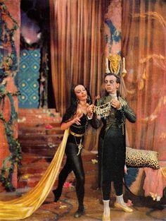 Ludmilla Tcherina & Robert Helpmann from the film's tie-in book THE TALES OF HOFFMANN 'A Study of the Film' by Monk Gibbon 1951. (minkshmink)