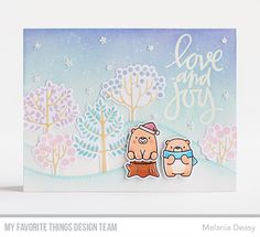 Hi all! I'm back with a card for My Favorite Things September Release Countdown Day 2. I play with a gorgeous stamp set called Modern Trees...