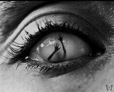 Creepe eye tattoo design