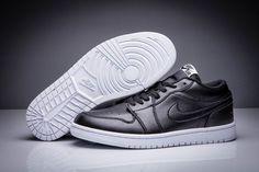 quality design edb98 80316 Air Jordan 1 Low Black White Sport Sneakers for