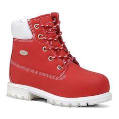 Lugz Drifter 6 TL Preschool Kids' Ankle Boots, Kids Unisex, Size: 1, Red