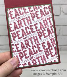 Bold sentiments make a gorgeous background, Carols of Christmas, Stampin' Up!, Brian King